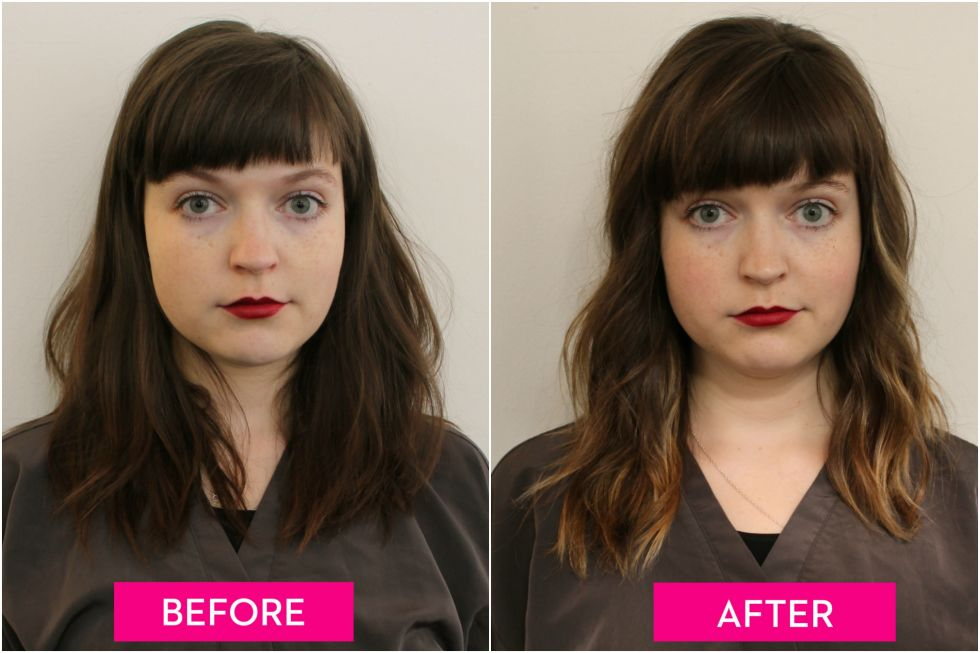 Hair contouring makeovers before and after highlights make hair before vs after pmusecretfo Image collections