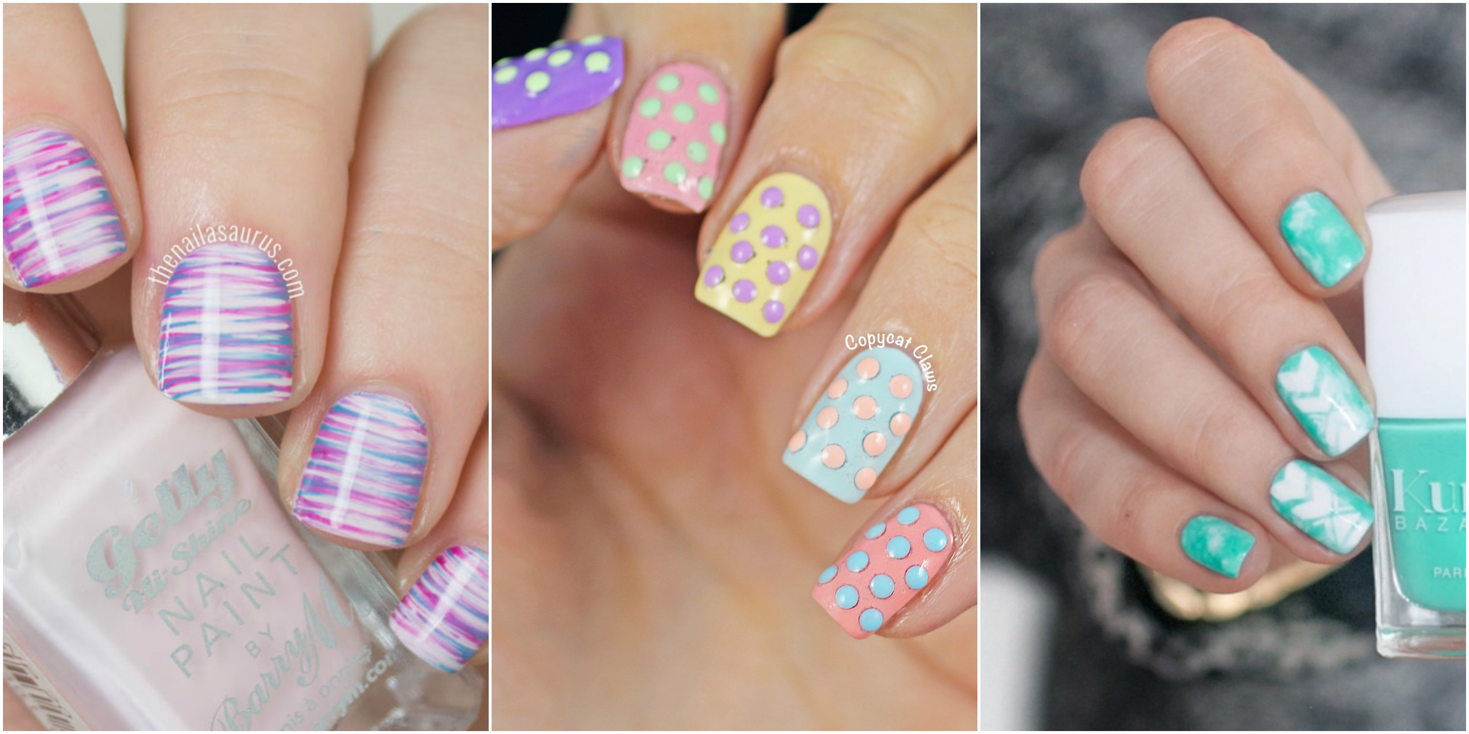 Pictures of nail art for easter : Nail art for kids design cute easter