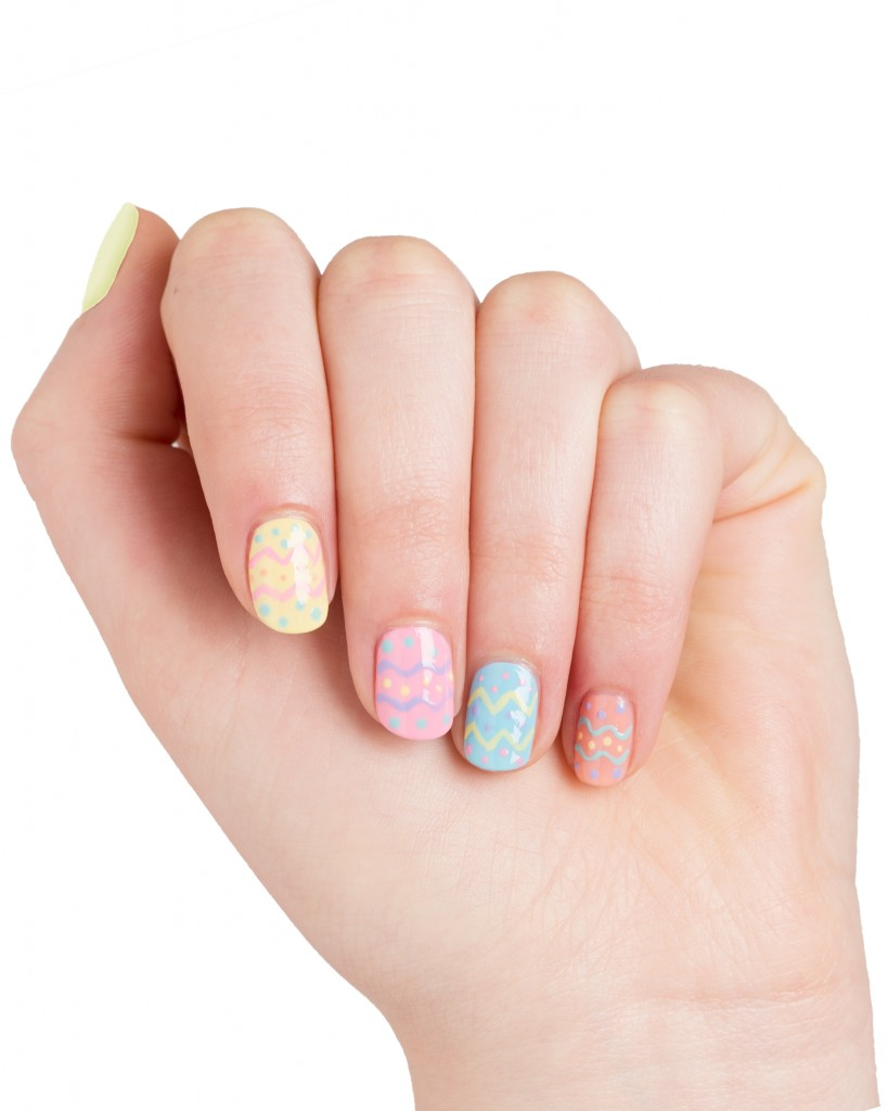 24 cute easter nail designs easy easter nail art ideas prinsesfo Choice Image