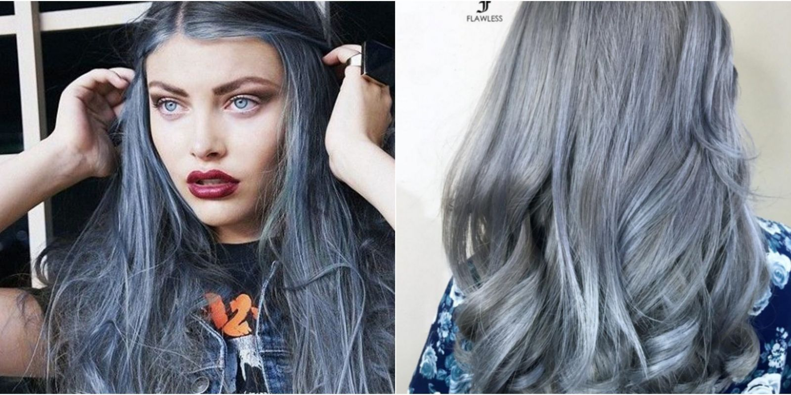 Denim hair is the coolest new color trend denim hair color