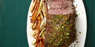 Leg Of Lamb With Pistachio Topping