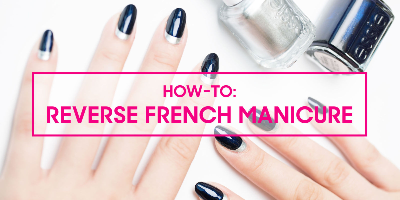 Reverse french manicure tutorial how to do a half moon manicure solutioingenieria Choice Image