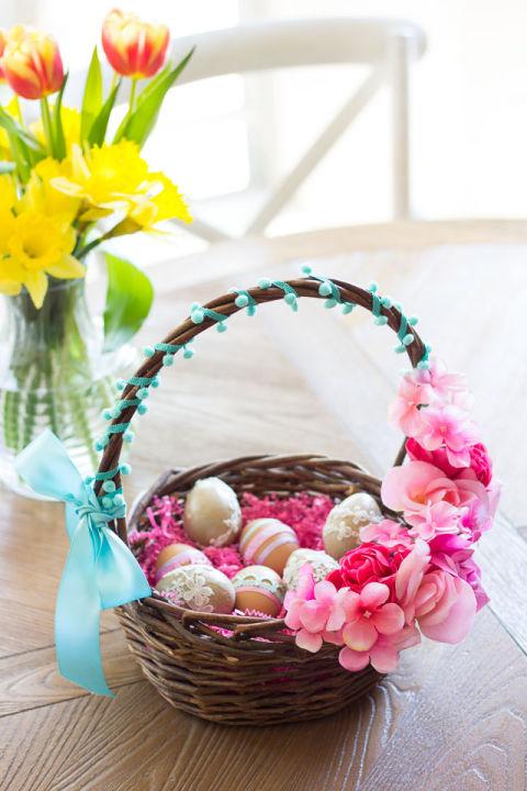 40 diy easter basket ideas unique homemade easter baskets good floral easter basket negle Choice Image