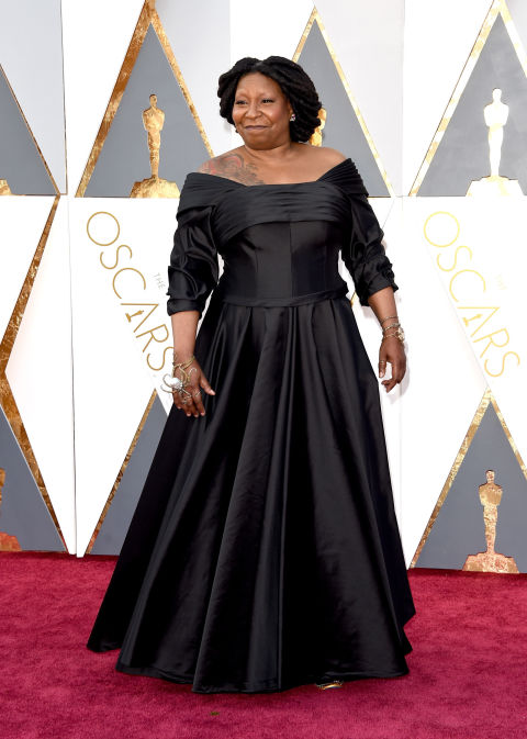 Whoopi Goldberg Shows Off Dragon Tattoo on Oscars Red ...