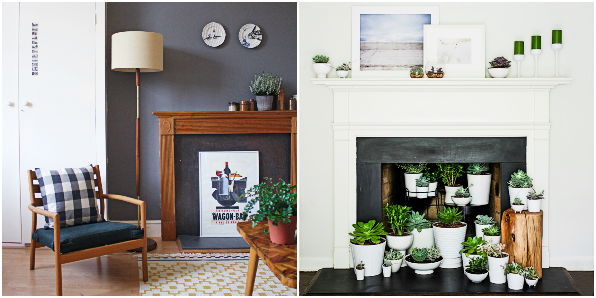 fireplace decor - designs for a faux fireplace
