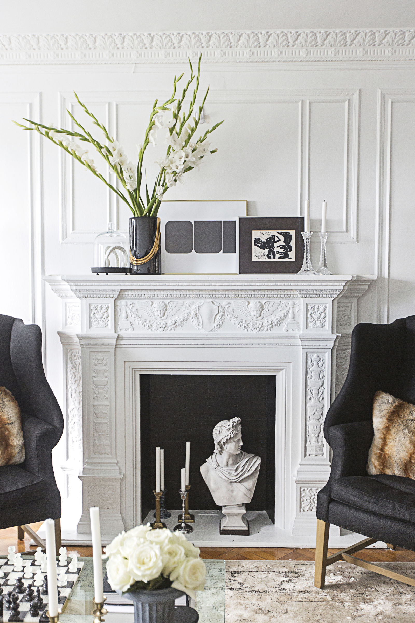 fireplace decor designs for a faux fireplace