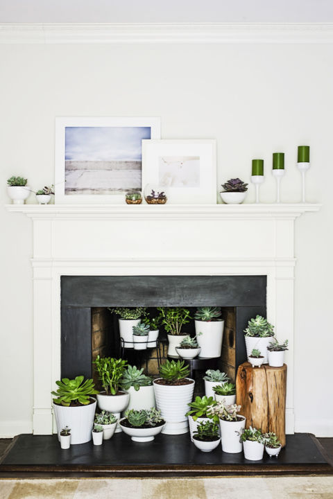 summer decoration for fireplaces