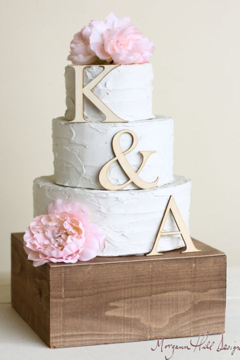 19 unique wedding cake toppers monogram wedding cake topper junglespirit Image collections