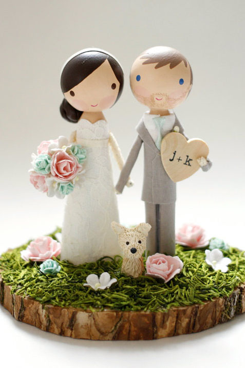 19 unique wedding cake toppers wedding cake topper with dog junglespirit Gallery