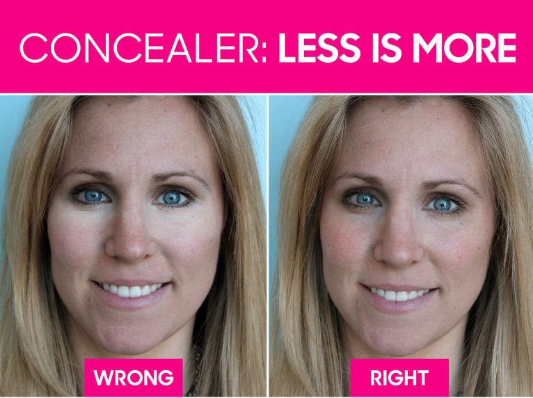 27 best beauty tips hair makeup and nail tricks you need to know go easy on the concealer for a natural look urmus Gallery