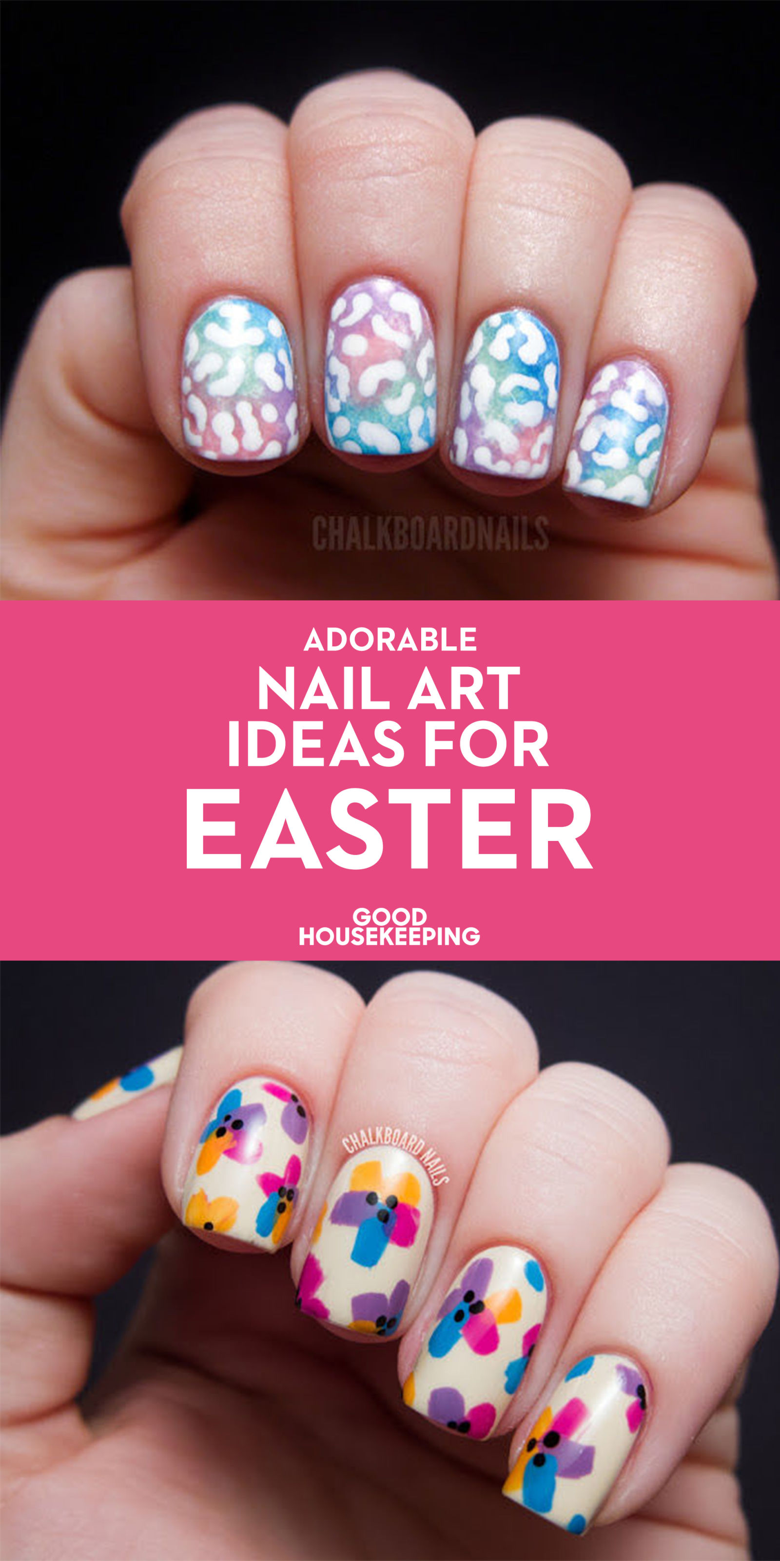 21 cute easter nail designs easy easter nail art ideas prinsesfo Choice Image