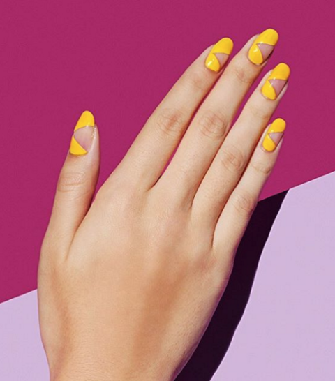 Sunny yellow may not be the first shade you reach for when doing your nails, but a funky negative space manicure like this one could make you warm up to a canary color. See more at Paintbox Nails »