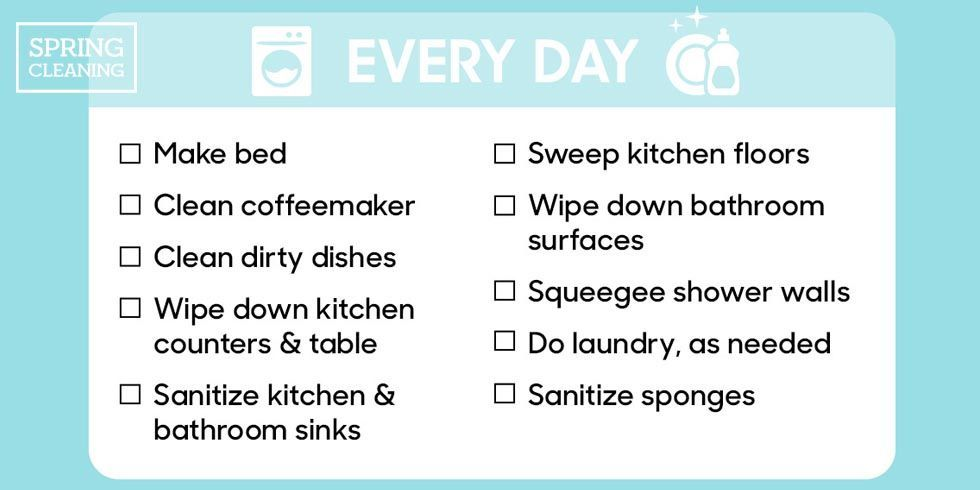 How To Clean The House house cleaning schedule - the cleaning checklist you need