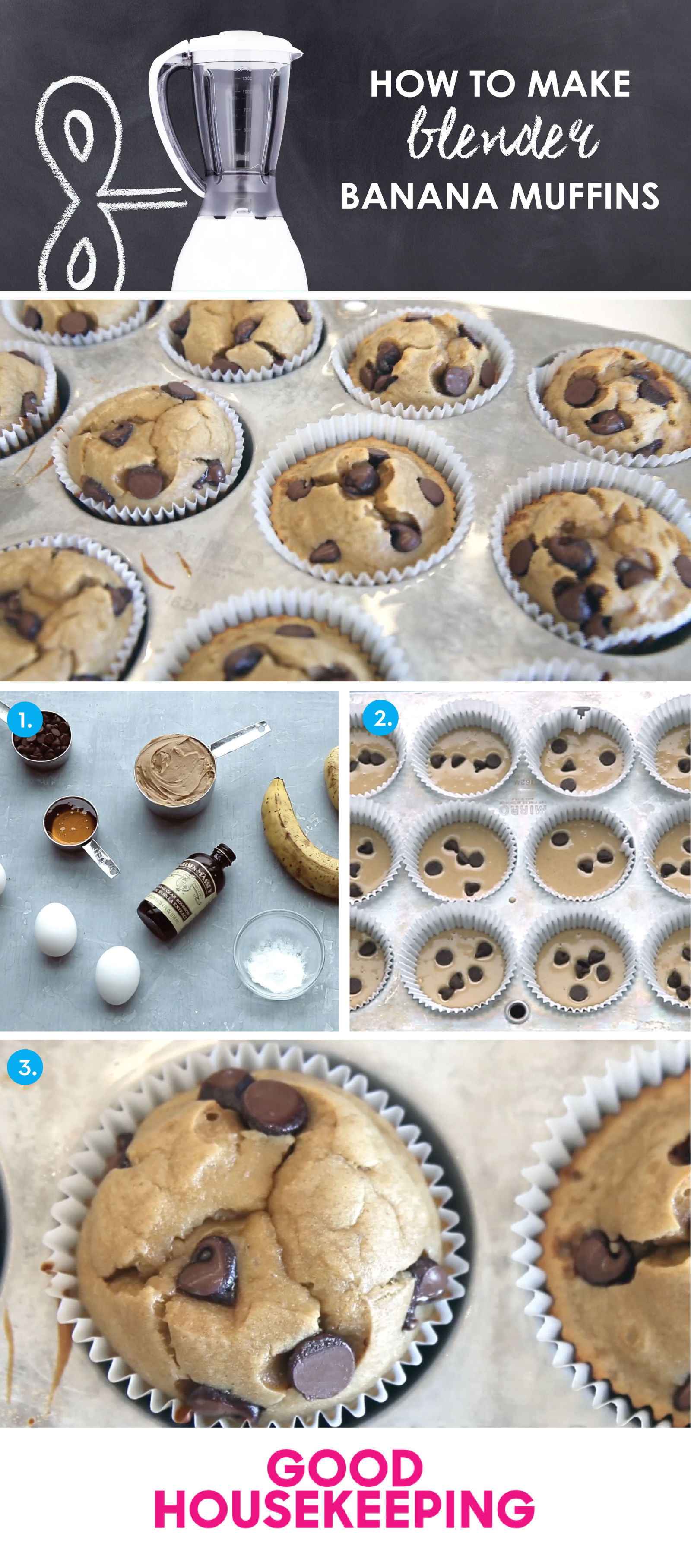 Learn how to make banana muffins in the blender