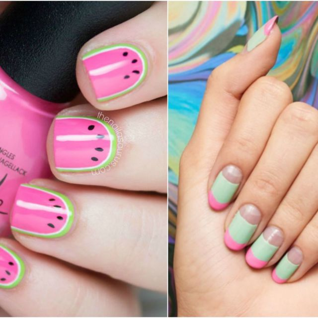 Nail Tip Designs Ideas simple blue zebra nail tips design Nail Designs 2017