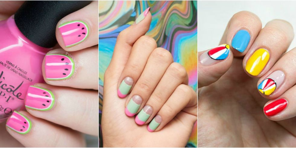 When the weather gets warm, your nail art can get sunnier too. - 30 Summer Nail Designs For 2017 - Best Nail Polish Art Ideas For