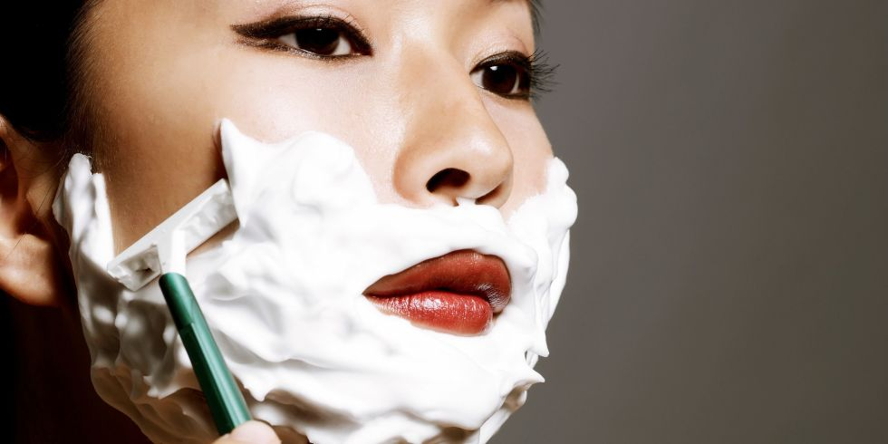 Shaving face to exfoliate the dangers of shaving your face woman shaving her face ccuart Choice Image