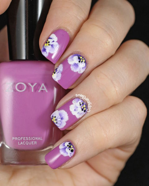 Floral Nail Art - 20 Flower Nail Art Ideas - Floral Manicures For Spring And Summer