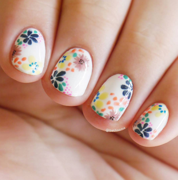 Floral Manicures For Spring And: Floral Manicures For Spring And