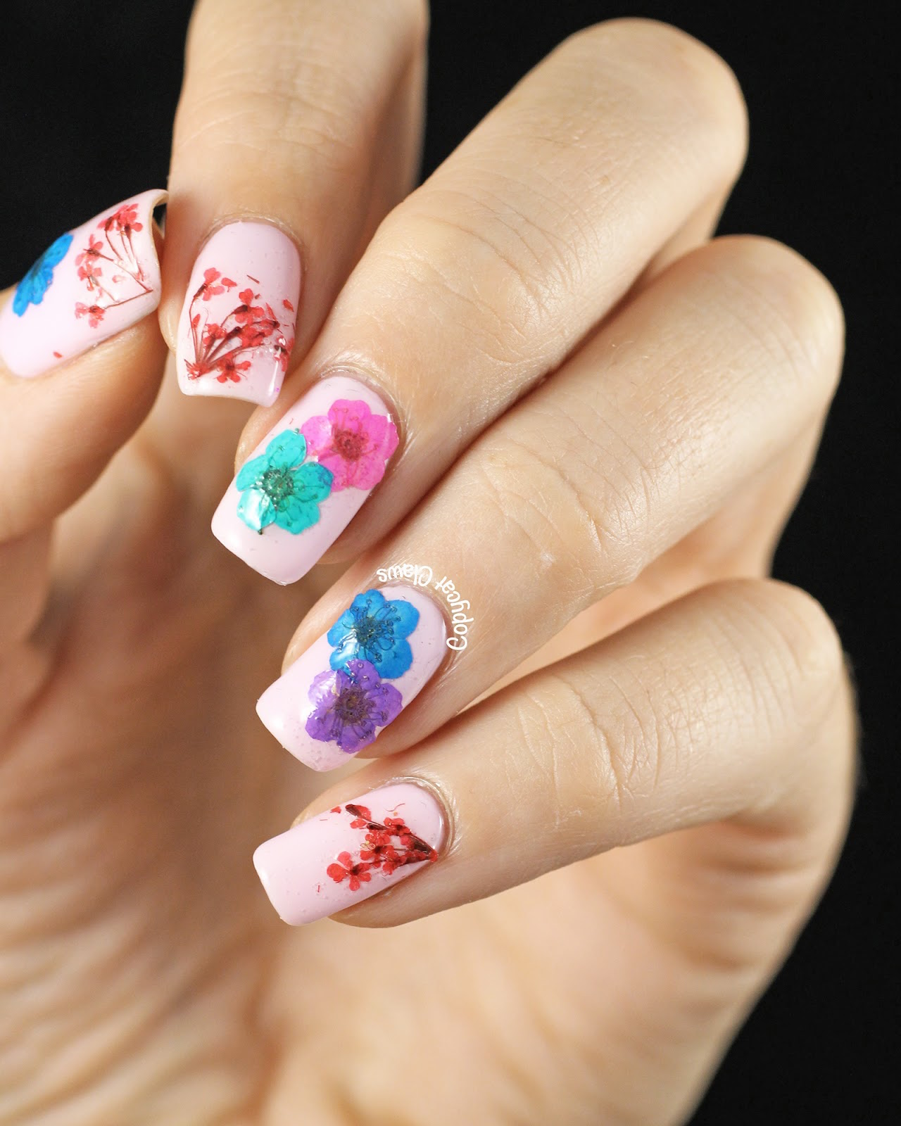 how to make flower nail art