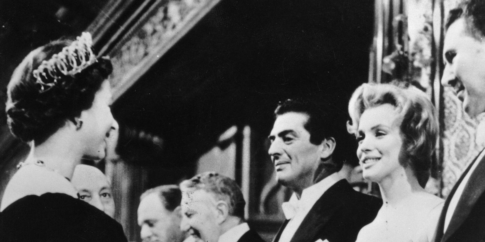 Rare Footage Of Marilyn Monroe Meeting Queen Elizabeth In