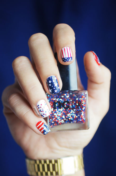 10 best 4th of july nail art designs cool ideas for patriotic 4th of july nail art prinsesfo Image collections