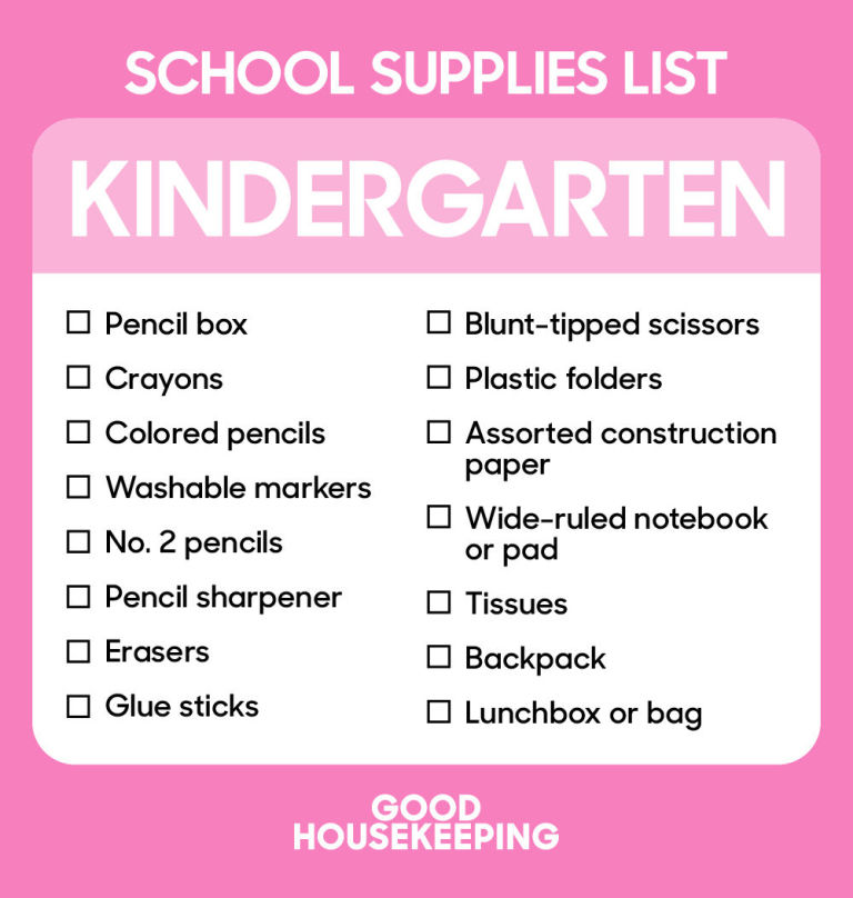 Back To School Supplies List  Best School Shopping Checklist