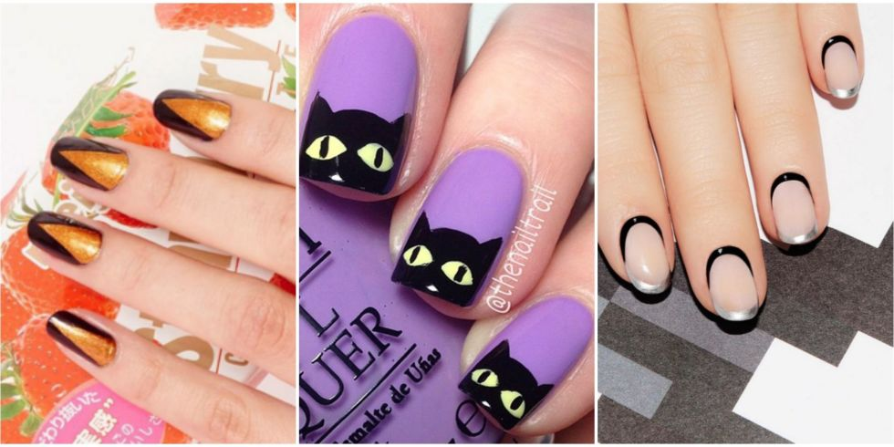 Nail Design Ideas Easy nail design ideas 2015 easy 50 Halloween Nail Art Ideas Easy Halloween Nail Polish Designs