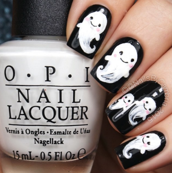 55 halloween nail art ideas easy halloween nail polish designs - Halloween Design