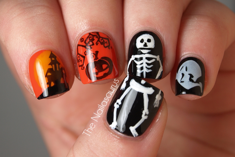 55 halloween nail art ideas easy halloween nail polish designs - Halloween Easy Nail Art