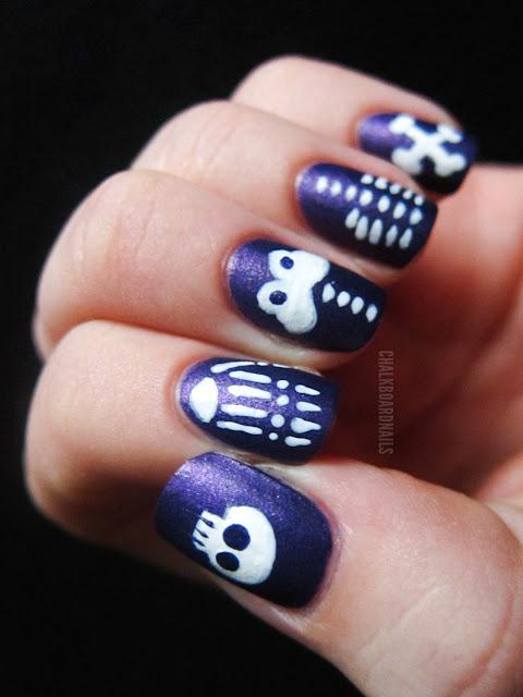 55 halloween nail art ideas easy halloween nail polish designs - Easy Halloween Designs For Nails