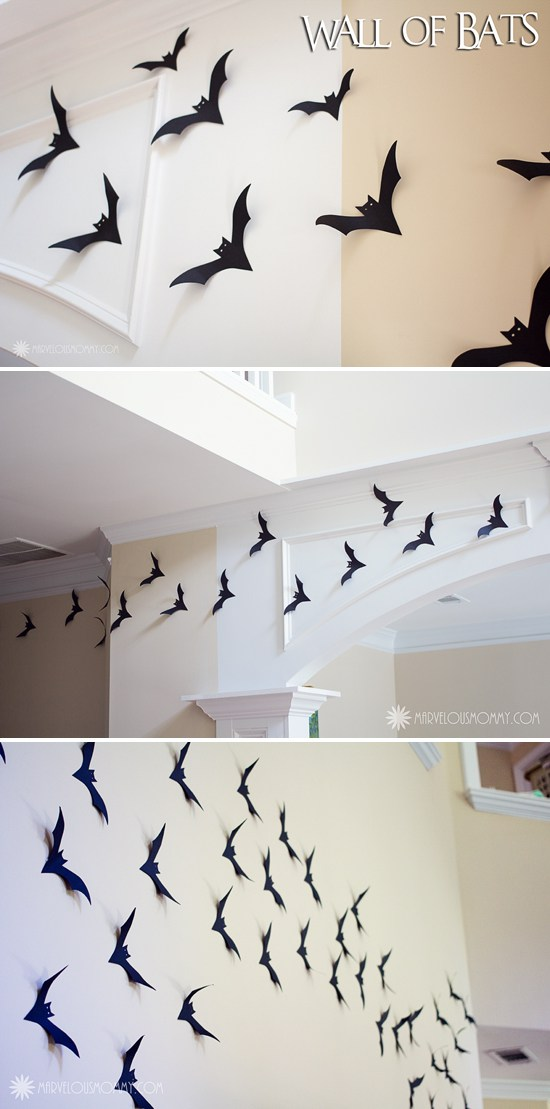 halloween gallery wall decor hallowen walljpg  wall of bats collage