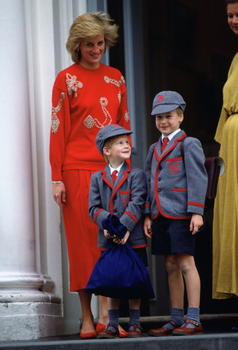 Znalezione obrazy dla zapytania princess diana school william