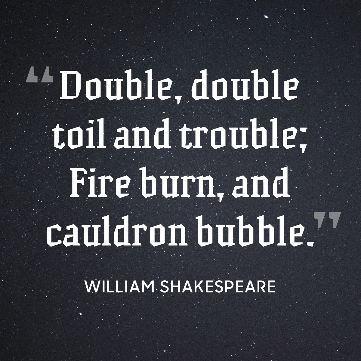 Shakespeare Halloween Quotes: 14 Spooky Halloween Quotes