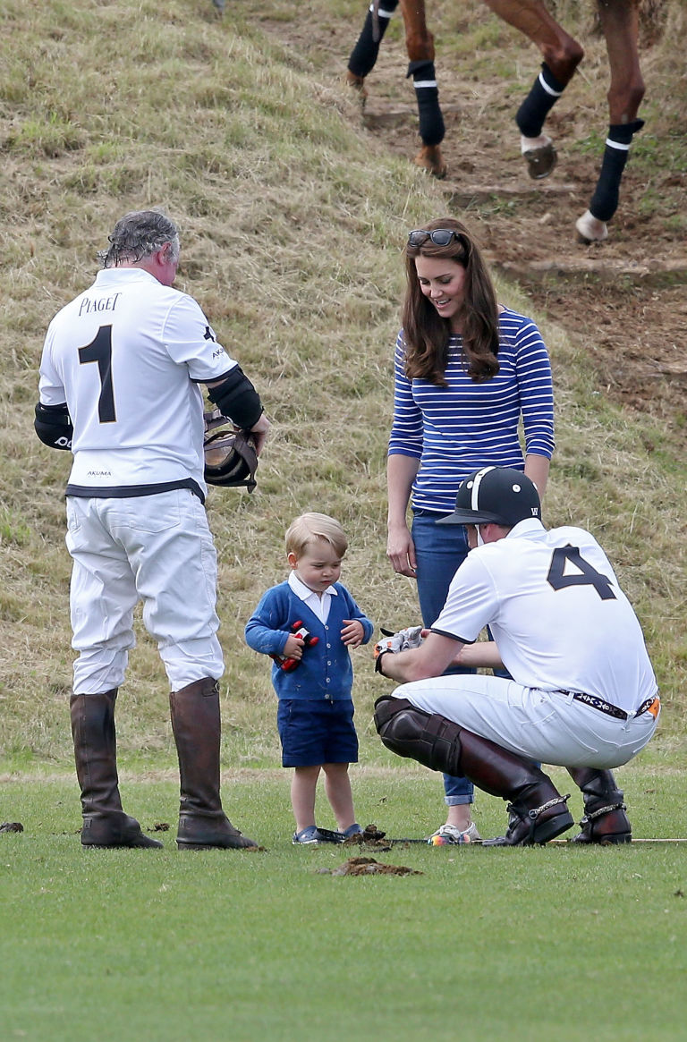 prince william prince george polo match