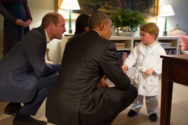 prince william prince george president obama