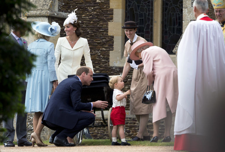 prince william prince george charlotte's christening
