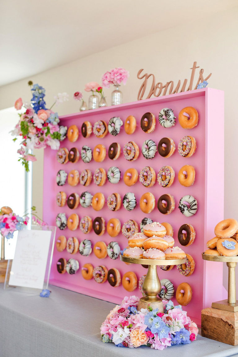 Donut walls are the best thing to happen to weddings this year but the best part is donut walls are adaptable for any style of wedding for example they can be super romantic amipublicfo Gallery