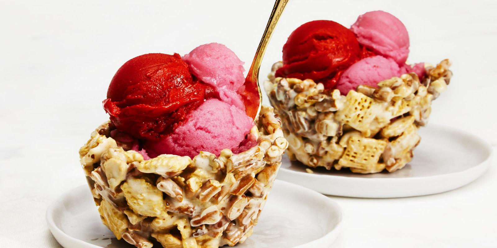 Best Sweet 'n' Salty Ice Cream Bowls Recipe - GoodHousekeeping.com