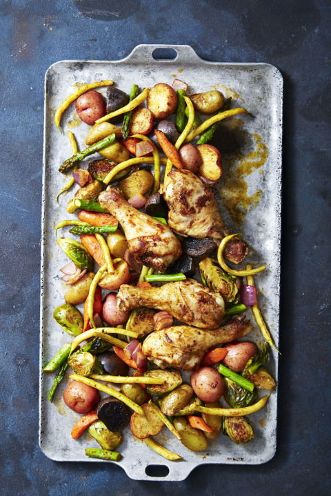 When in doubt, throw everything on a pan and let it bake. 
