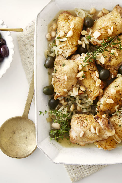 Infused with nutty and salty flavors, this chicken dish will be a hit. 