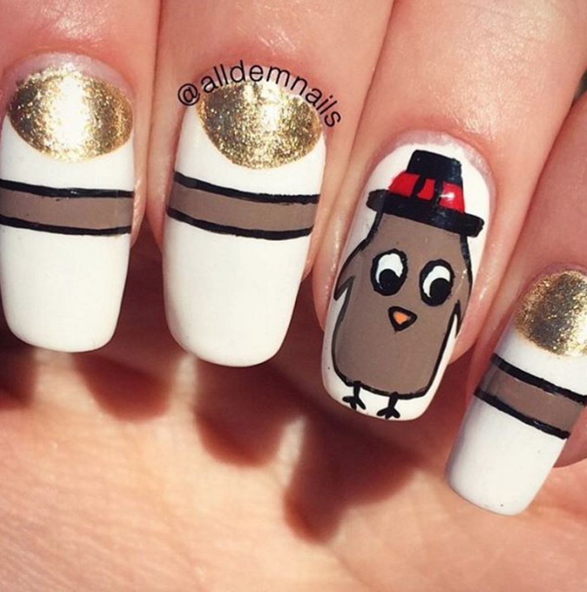 25 thanksgiving nail art designs ideas for november nails prinsesfo Choice Image