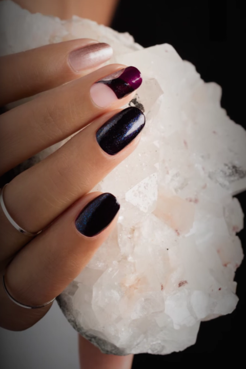 Playing with negative space is an easy way to take your manicure to a whole new level. All you need are a few beautiful jewel tones and some nail art tape.&lt;br /&gt;&lt;br /&gt;&lt;br /&gt;&lt;br /&gt;&lt;br /&gt;<br /> See more on OPI »&lt;br /&gt;&lt;br /&gt;&lt;br /&gt;&lt;br /&gt;&lt;br /&gt;<br />