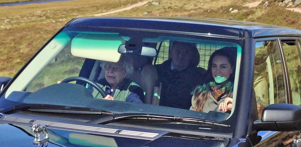 Queen Elizabeth Drives Carole Middleton Kate Middleton In