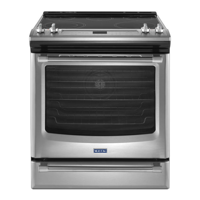maytag 30inch gas range with convection and fit system mgs88880ds
