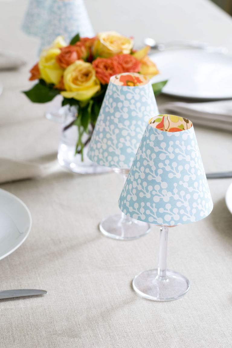 Candle lampshade craft diy candle lamp shade give your table a chic cheery feel mozeypictures Choice Image