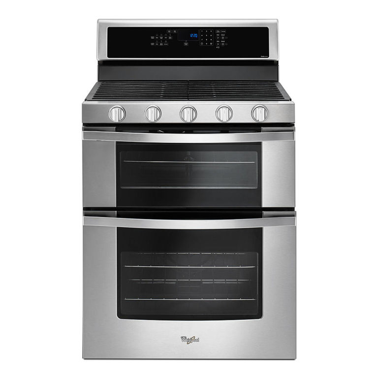 Whirlpool 6 0 total cu ft double oven gas range with accubake system wgg555sobs review price - Gas stove double oven reviews ...