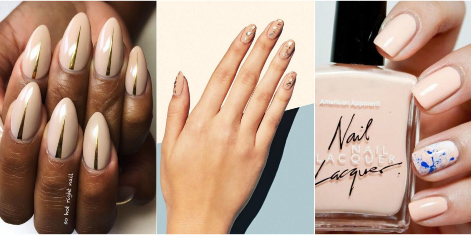 Subtle ways to upgrade your nude manicure easy nail art ideas subtle ways to upgrade your nude manicure easy nail art ideas for nude nail polish prinsesfo Images