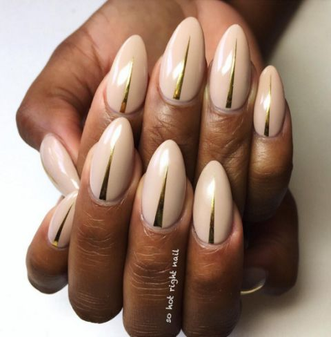 Subtle ways to upgrade your nude manicure easy nail art ideas nude nail art ideas prinsesfo Gallery