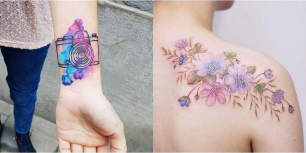 Favorito 17 Most Beautiful Watercolor Tattoo Ideas - Best Watercolor Tattoos PV52
